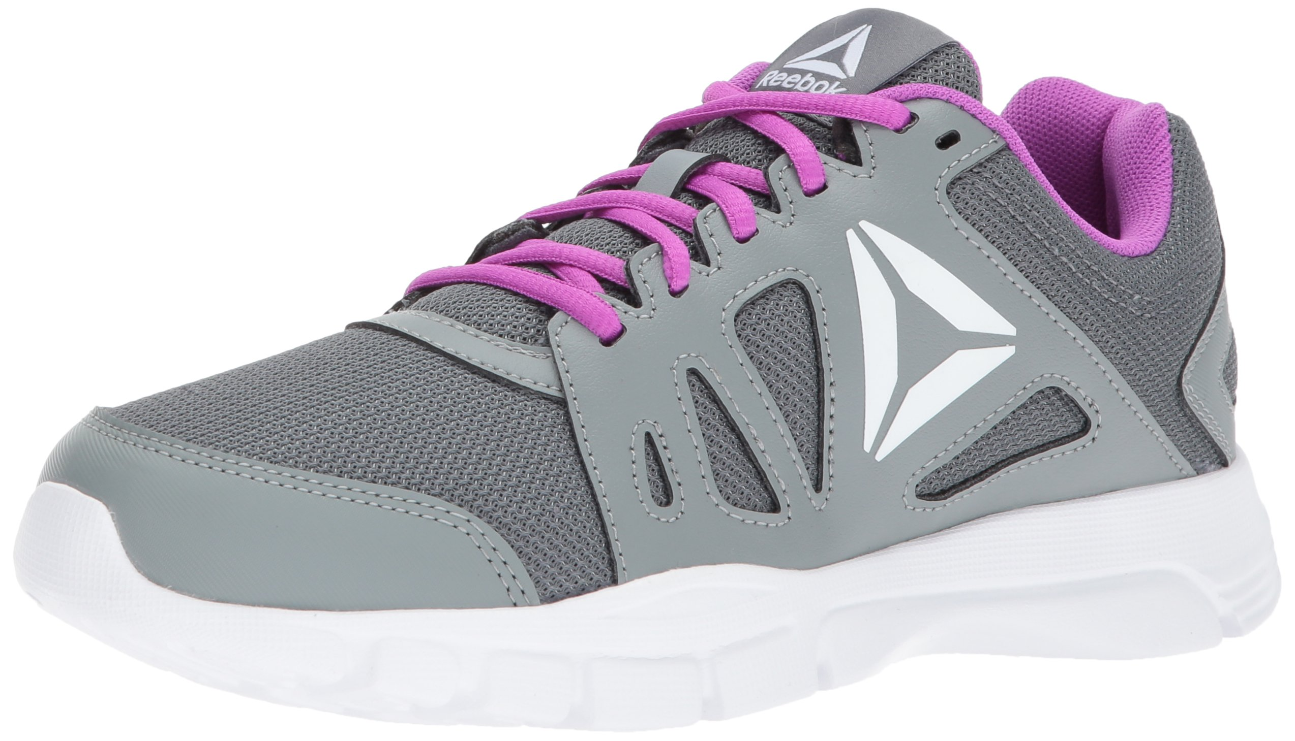 Reebok Women's Trainfusion Nine 2.0 Track Shoe, Alloy/Flint Grey/Vicious Violet/White, 8 M US