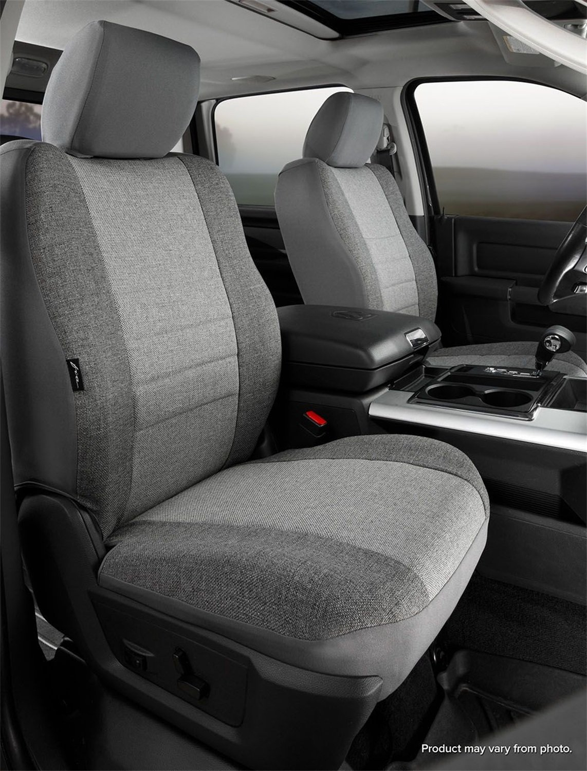 Gray Fia OE38-28 GRAY Custom Fit Front Seat Cover Bucket Seats Tweed,