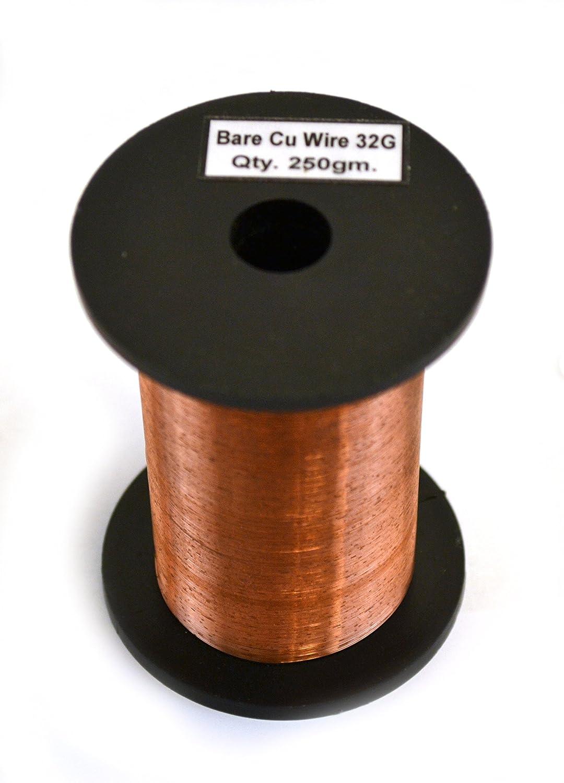 Amazon.com: Eisco Labs Copper Wire, Bare, 1500ft Reel, 32 SWG (33/34 ...