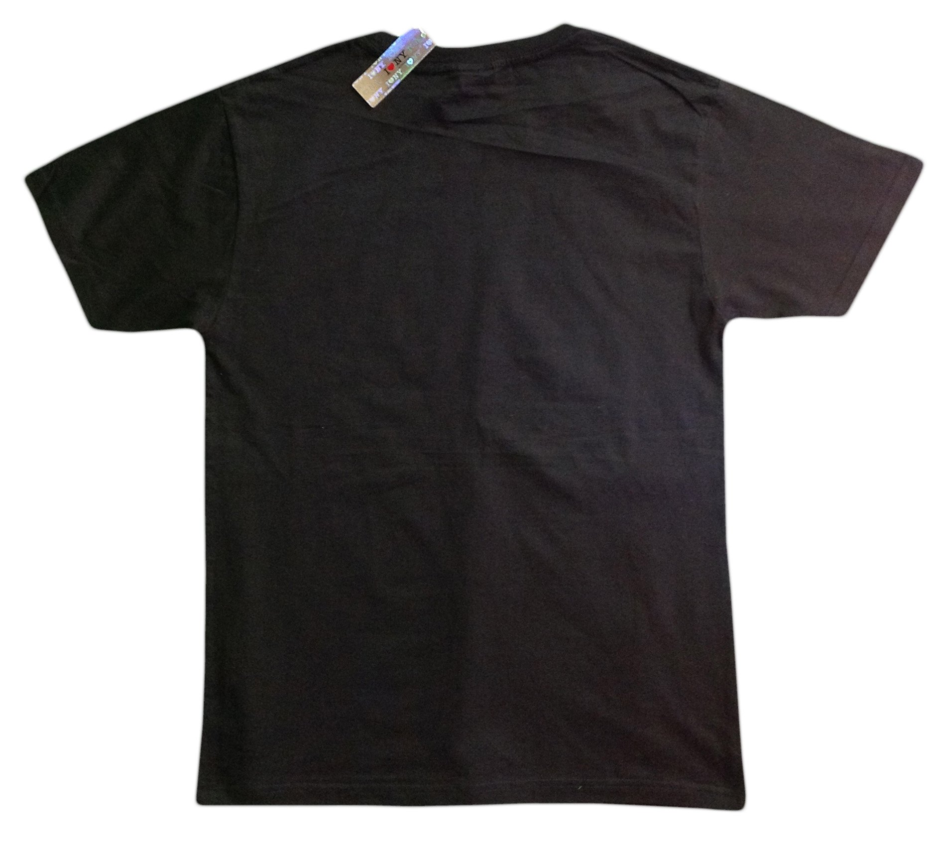 I Love NY New York Short Sleeve Screen Print Heart T-Shirt Black Large