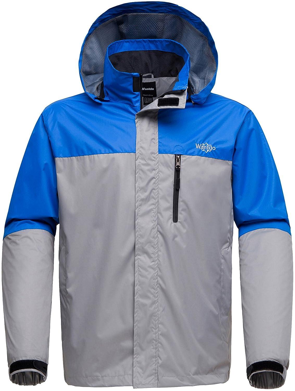 Wantdo Men's Breathable Hooded Softshell Outdoor Windbreaker Hiking Jacket