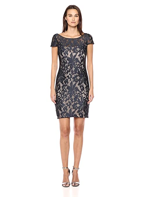 Calvin Klein Womens Cap Sleeve Sequin Sheath Dress at Amazon Womens Clothing store: