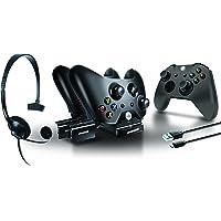 dreamGEAR - Kit del Reproductor - Incluye base de carga / cable de sincronización / auriculares / cubierta del driver de silicona, Xbox One, otro, Una talla
