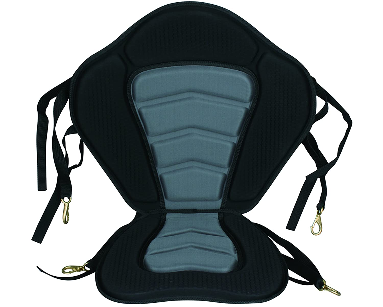 Seaflo Deluxe Adjustable Padded Kayak Seat Detachable Back Bag Canoe Backrest