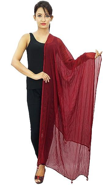 Blend gasa Dupatta cuello indio del abrigo de las bufandas de las mujeres robó Throw: Amazon.es: Ropa y accesorios