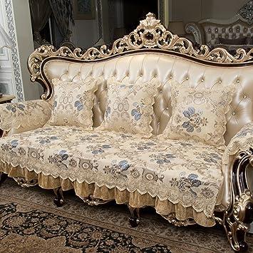 Sofa mats FEIZICojines de sofá de Estilo Europeo,Tejido de ...