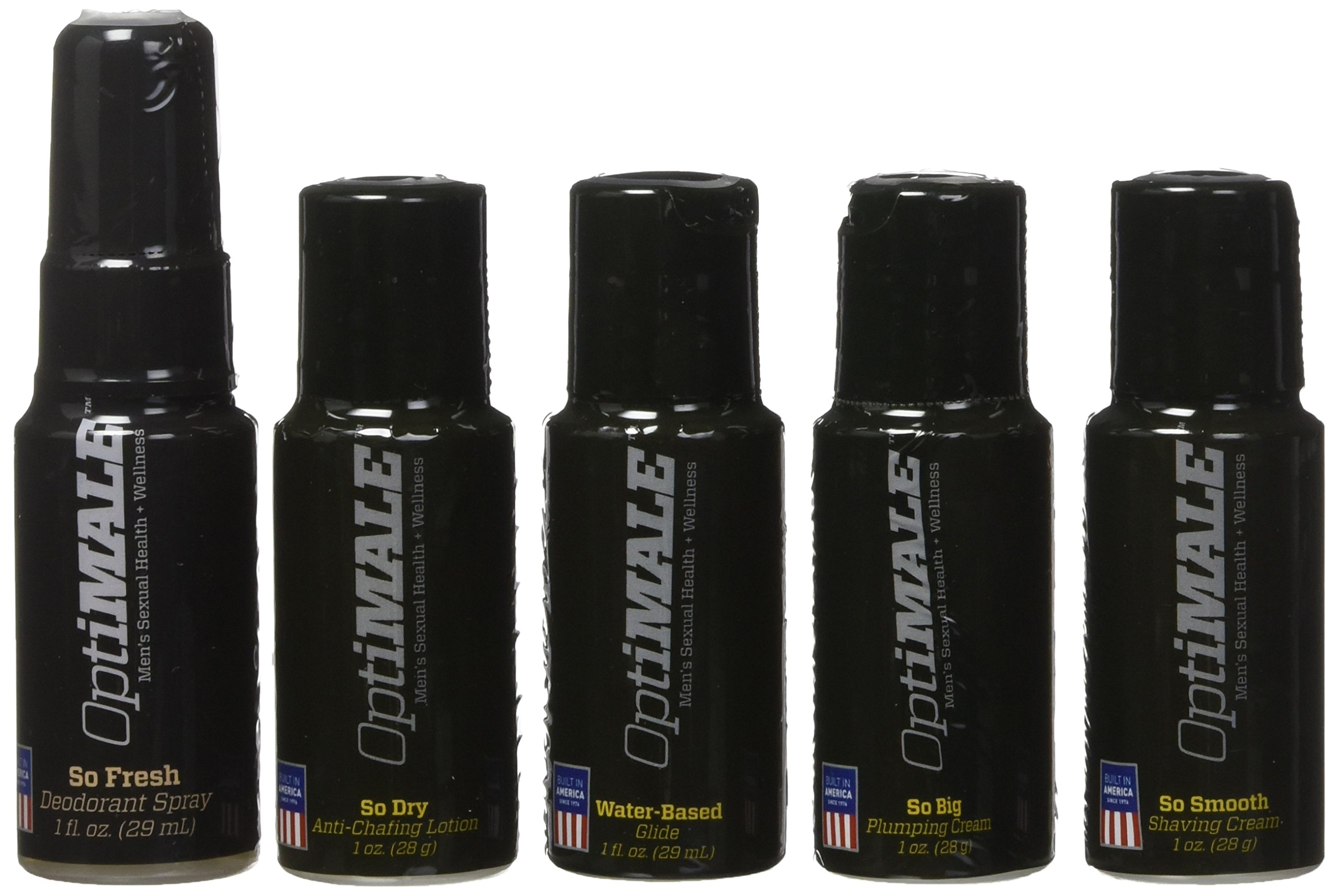Doc Johnson OptiMALE - Travel Essentials Kit for Men - 1 oz. Bottles of Water-Based Glide, So Dry, So Fresh, So Big, So Smooth by Doc Johnson