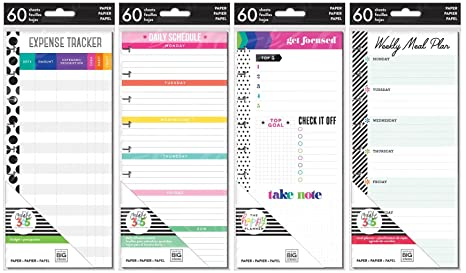 amazon com happy planner classic planner half sheets meal