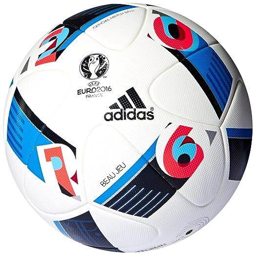 2 opinioni per Adidas Pallone Da Calcio Beau Jeu Uefa Euro 2016 Bianco-Bright Blue-Night