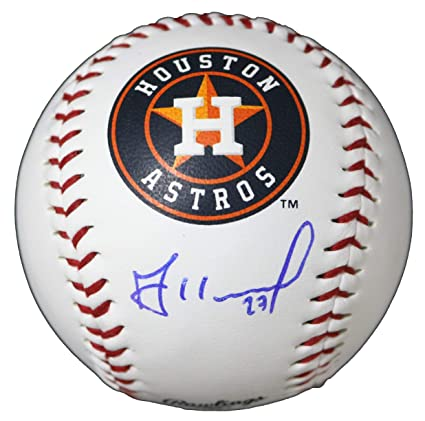 9b8acd8ebec Image Unavailable. Image not available for. Color  Jose Altuve Houston  Astros Signed Autographed Rawlings Official Major League Logo Baseball COA
