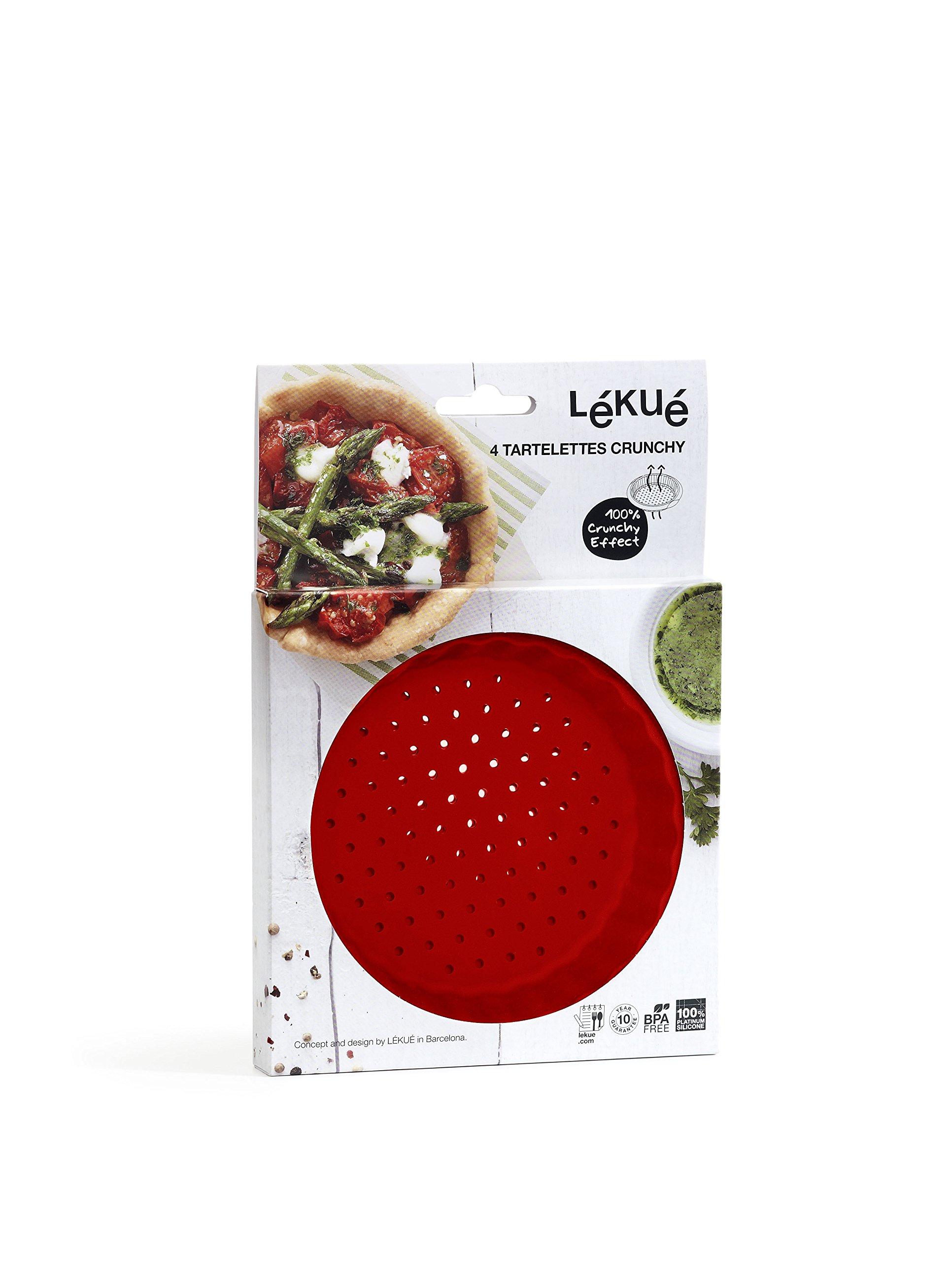 Lekue Perforated Tart Pan (Set of 4), Red by Lekue (Image #1)
