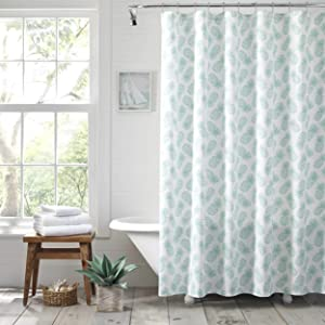 Tommy Bahama Tossed Pineapple Shower Curtain, 72x72, Pastel Blue