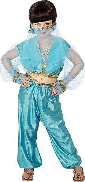 SmiffyS 27265L Disfraz De Princesa Árabe, Incluye Pantalones, Top ...