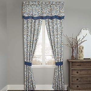 Croscill Janine Curtain Panel Pair, Blue