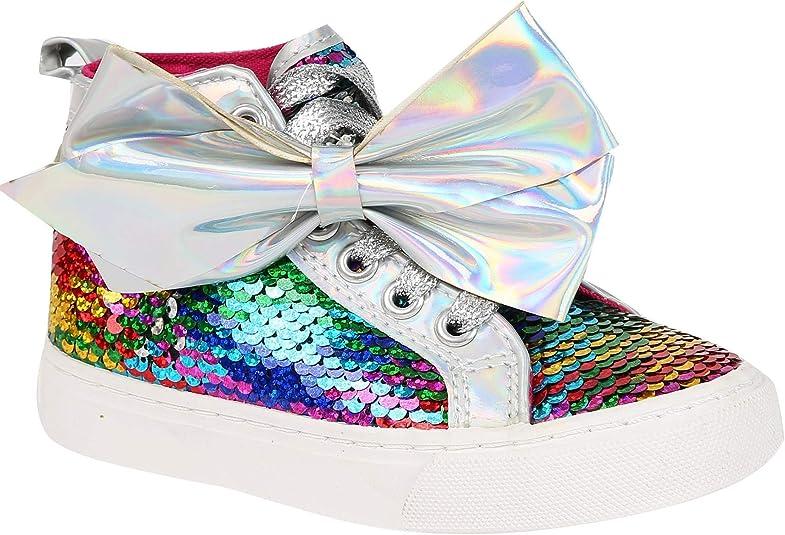 JoJo Siwa Girls Rainbow Sequin Bow