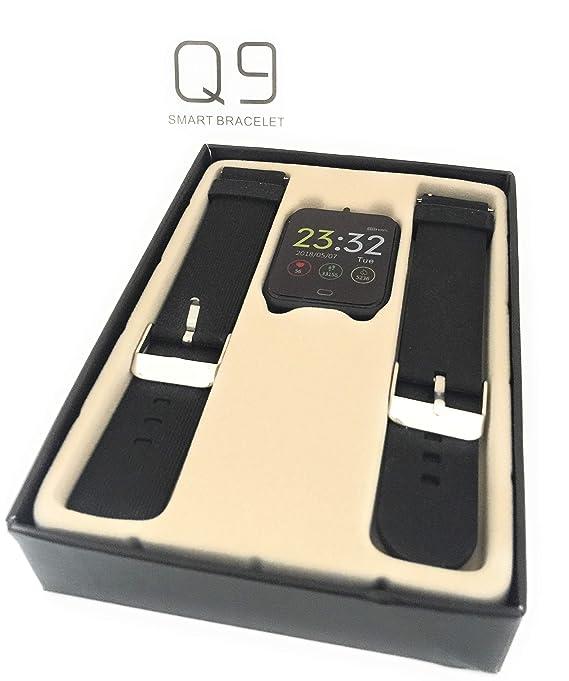 UTHDELD Smartwatch Q9 Presión Arterial Monitor de Ritmo Cardíaco ...