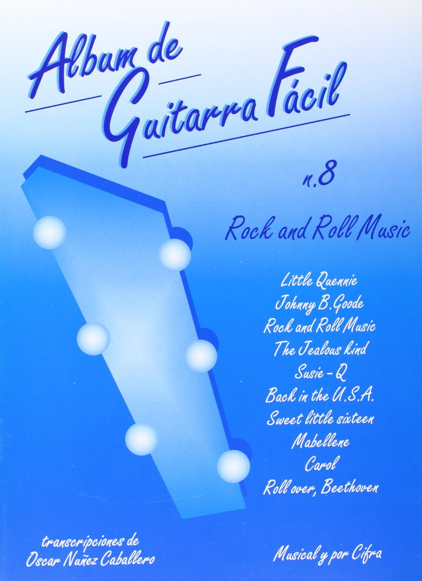 Album de Guitarra Fácil N.08 - Rock and Roll Music: Amazon.es: Aa ...