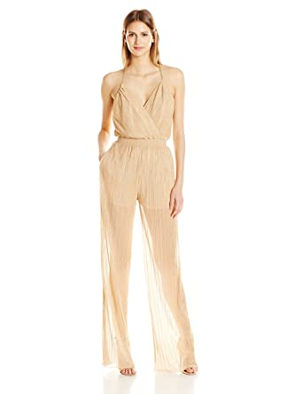 4db74efda4c9 Amazon.com  Just Cavalli Women s Metallic Jersey Jumpsuit