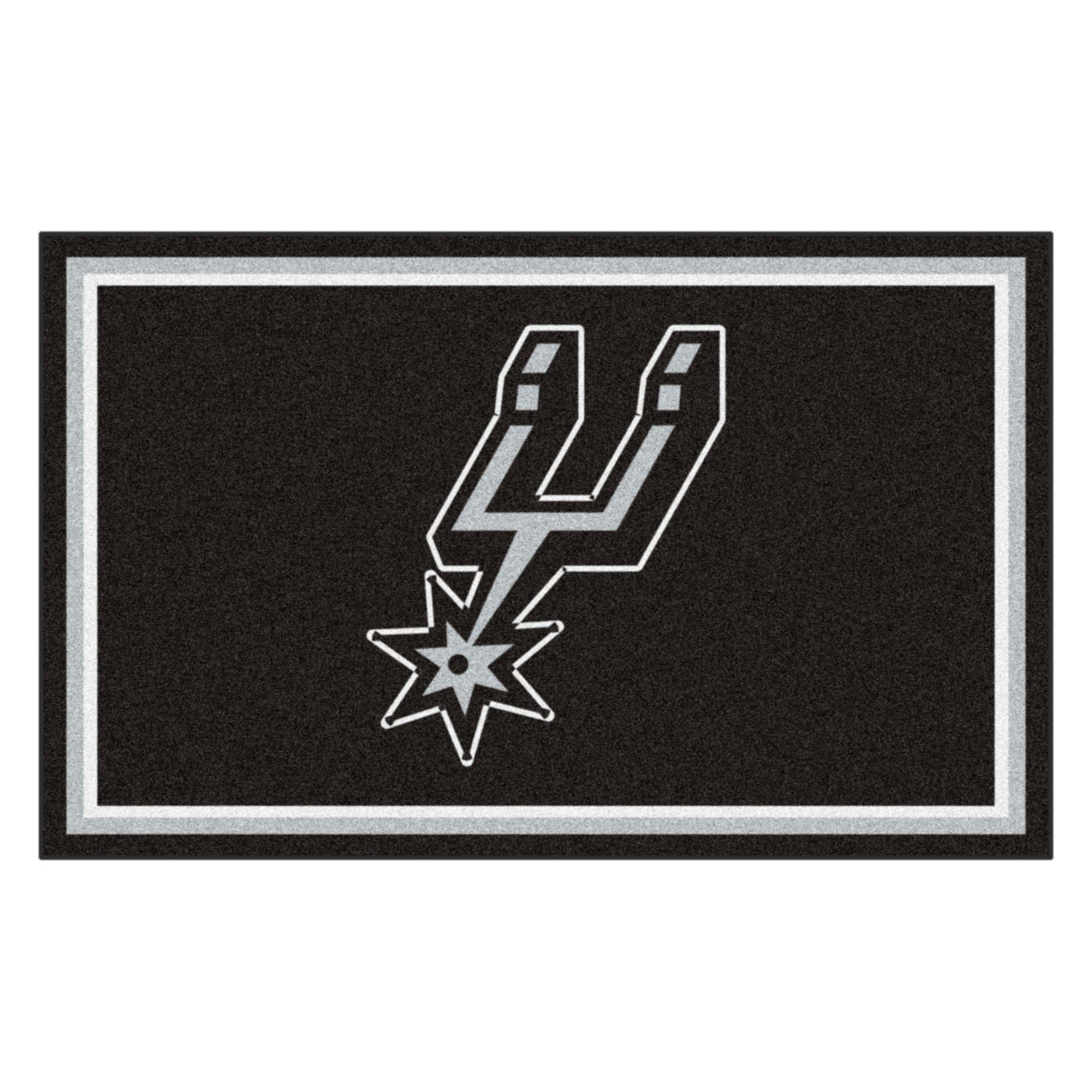 FANMATS 20444 NBA - San Antonio Spurs 4'X6' Rug, Team Color, 44''x71'' by Fanmats