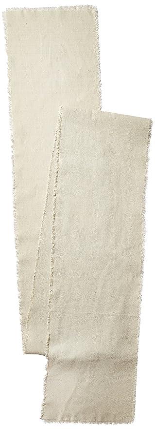 Linen Table Runner With Fringe Edge, 12 1/2 Inch X 120