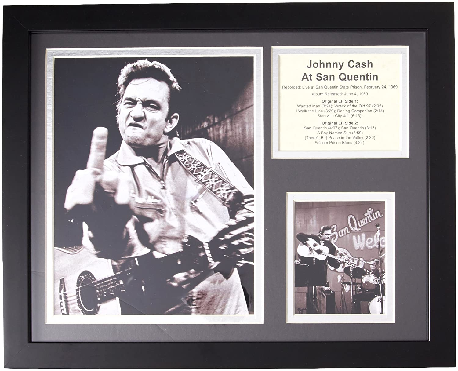 Legends Never Die Johnny Cash at San Quentin Framed Photo Collage ...
