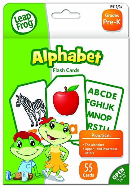 LeapFrog Alphabet Flash Cards For Grades Pre K Pack Of