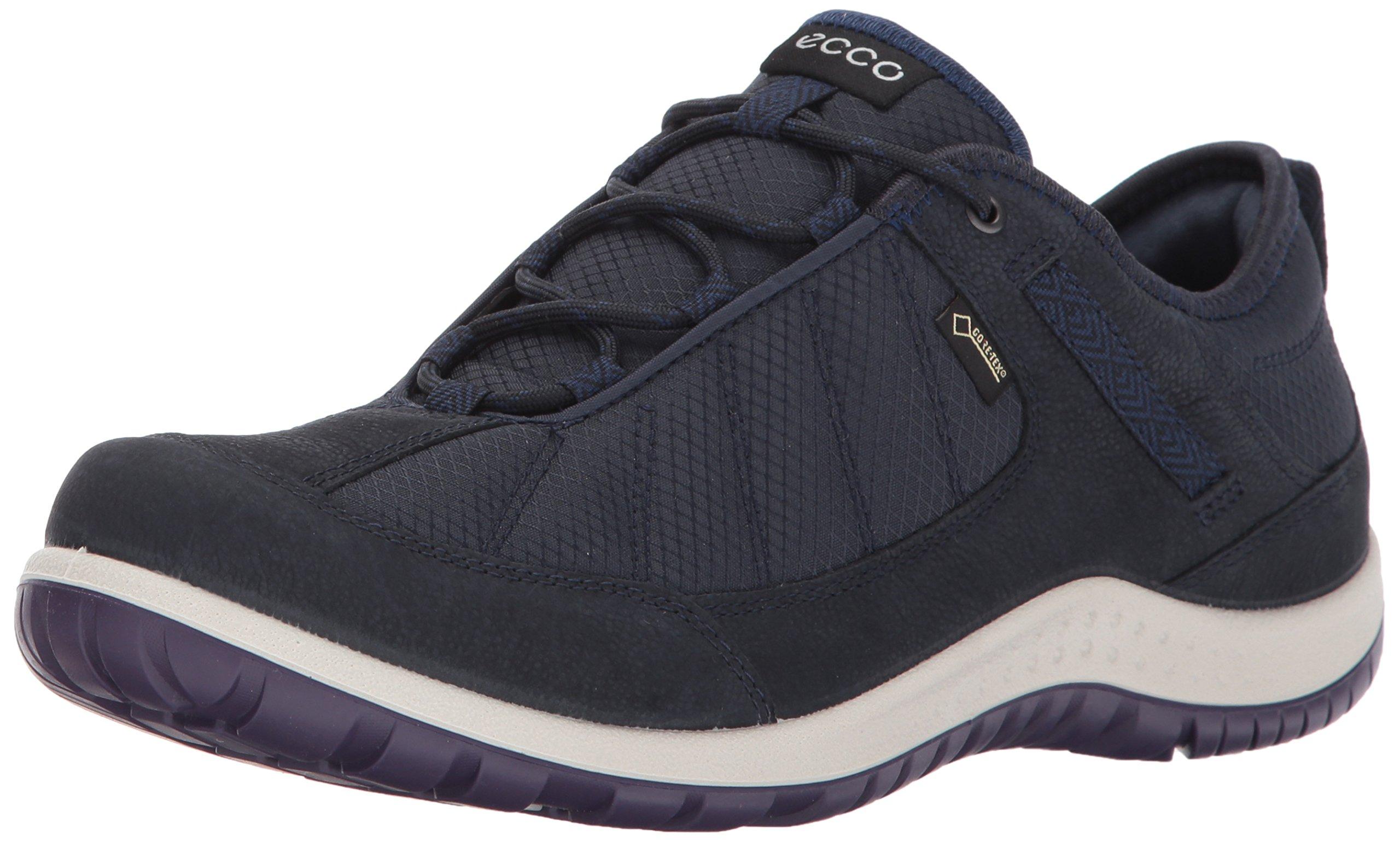 ECCO Women's Aspina Low Gore-Tex Textile Hiking Shoe, Navy/True Navy, 38 EU/7-7.5 US