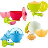 Nuby Garden Set of bowls Fresh Steam N' Mash Baby Food Prep Bowl and Food Masher, Colors May Vary, One Size