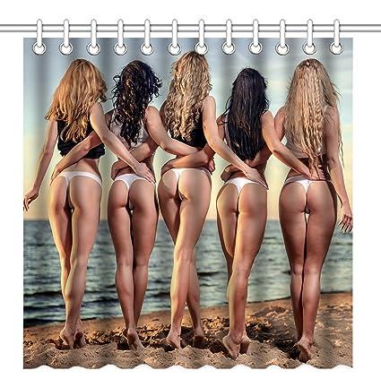 Women naked shower beach amusing message