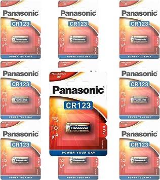 Panasonic CR123 A Photo Power Batería de Litio de 10 Pack, 1450 mAh: Amazon.es: Electrónica