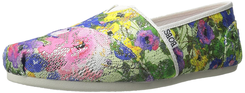 Skechers BOBS from Women's Plush Flat B01429Q364 8 B(M) US|White Multi Flowers