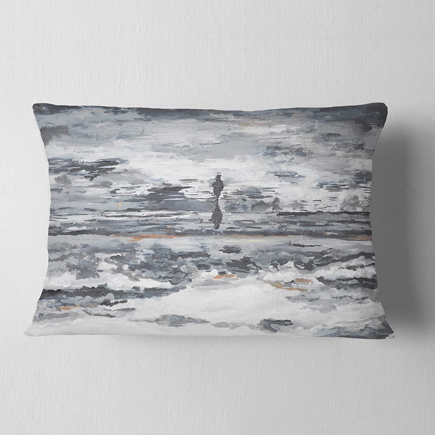 Designart Cu8507 12 20 Running Horse Through Water Abstract Throw Lumbar Cushion Pillow Cover For Living Room Sofa 12 X 20 High Quality Pillow Insert Plus Cushion Cover Printed On Both Side Amazon Ca Home