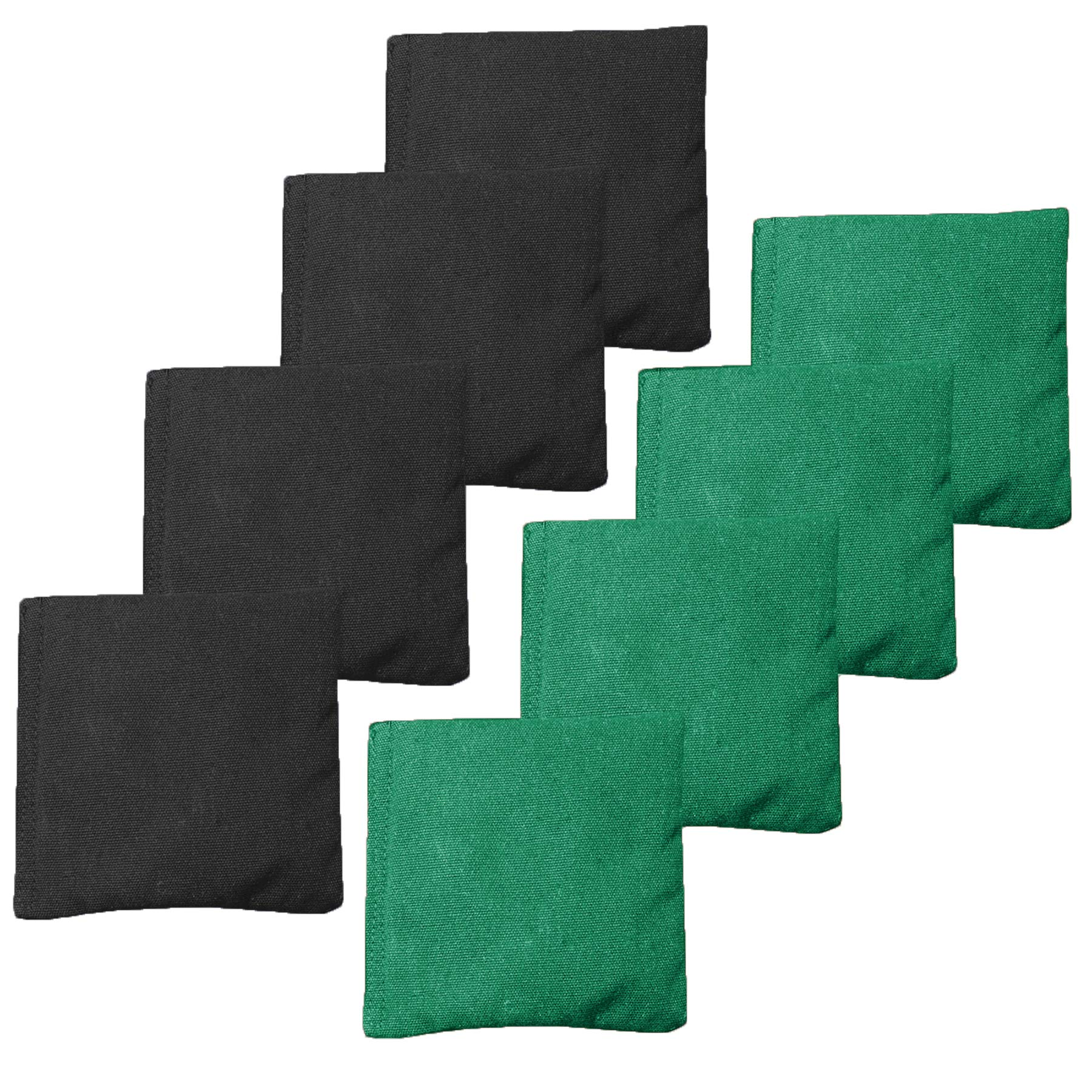 Weather Resistant Cornhole Bean Bags Set of 8 - Regulation Size & Weight - Green & Black by Play Platoon