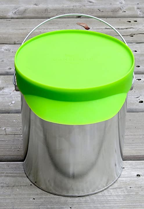 cansealid paint can lid for 37 litre 1 gallon paint cans green