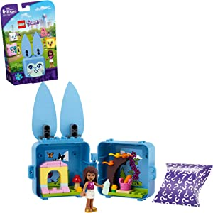 LEGO Friends Andrea's Bunny Cube 41666 Building Kit; Rabbit Toy for Kids with an Andrea Mini-Doll Toy; Bunny Toy Makes a Creative Gift for Kids Who Love Portable Playsets, New 2021 (45 Pieces)