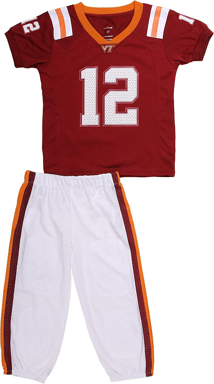 Fast Asleep Virginia Tech Uniform Pajama Set New 3T