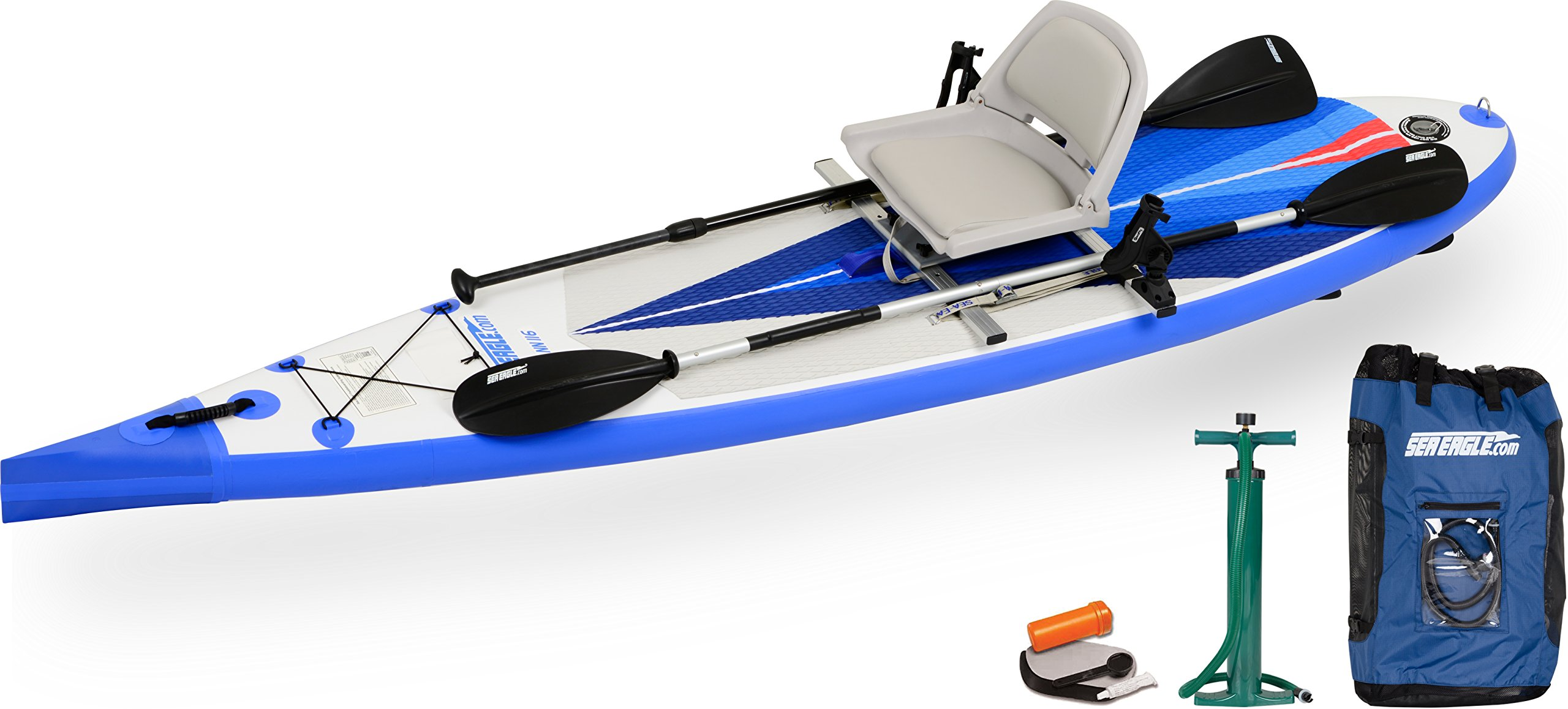 Sea Eagle NeedleNose NN116 Inflatable Touring SUP NEW Swivel Seat Fishing Rig Package by Sea Eagle