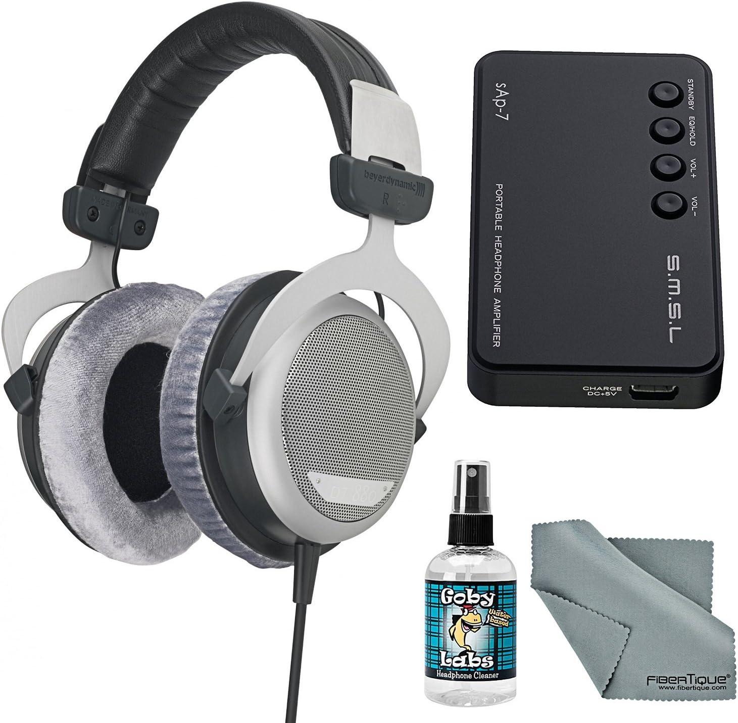 BEYERDYNAMIC DT880 프리미엄 250 옴 헤드폰 앰프+클리너+FIBERTIQUE 천 번들