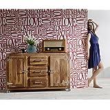 DELIFE Kommode Zakarya Sheesham Natur 150 cm Massivholz 2 Türen 3 Schübe Sideboard