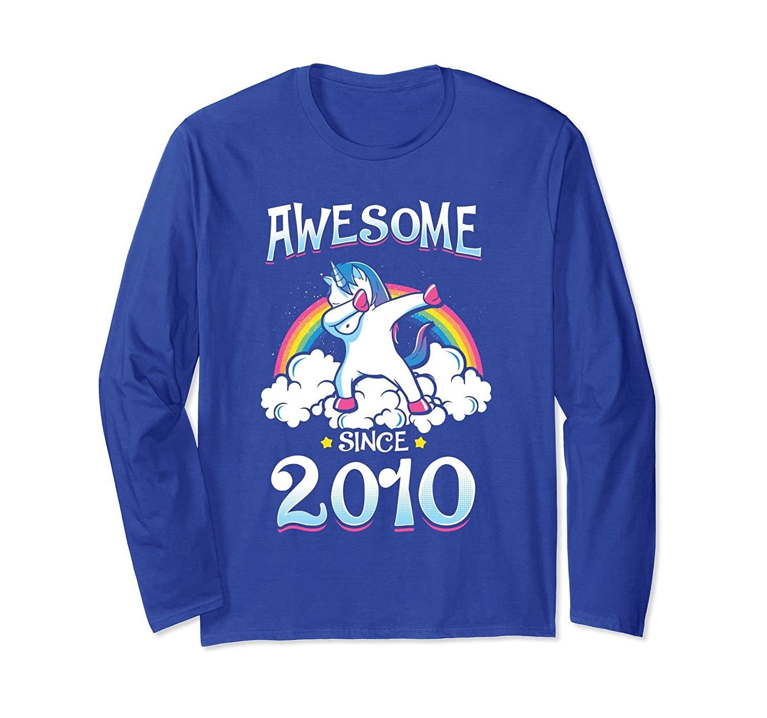 Awesome Since 2010 8th Birthday Party Long Sleeve T-shirt-mt