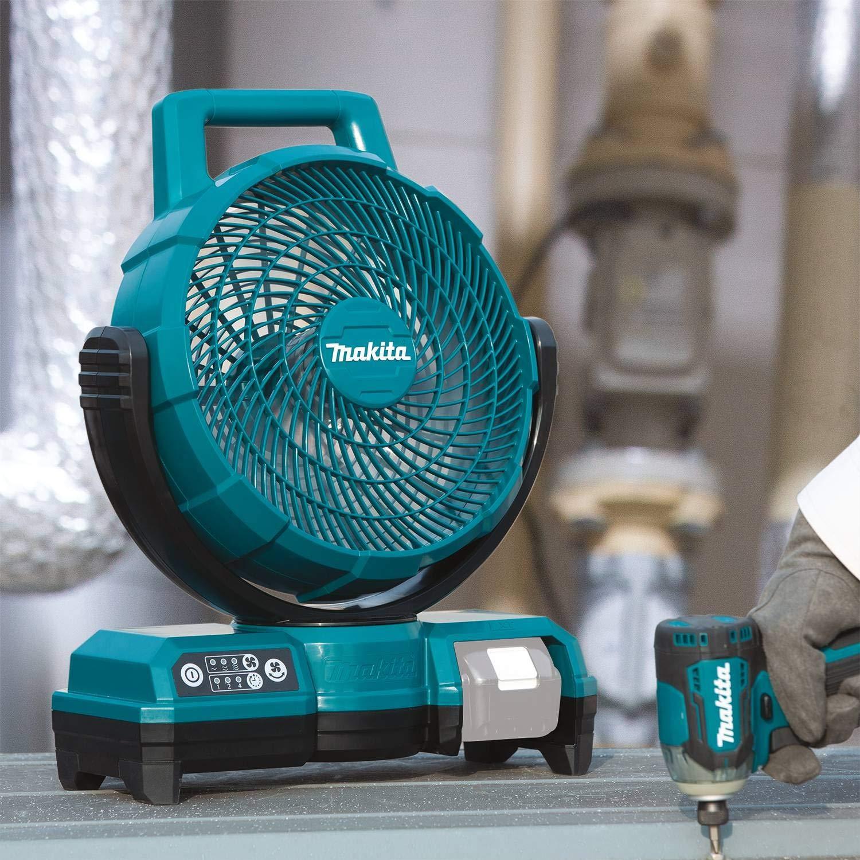 blau Makita DCF203Z Ventilator