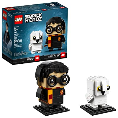 LEGO BrickHeadz 180 Piece Harry Potter & Hedwig Building Kit, Multicolor: Toys & Games