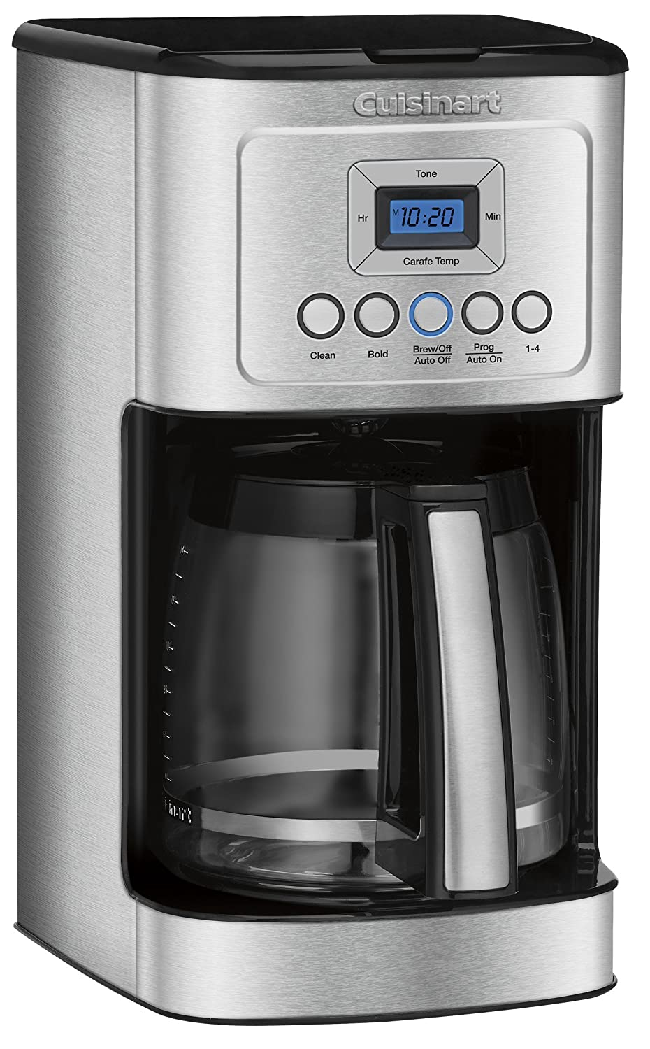 Cuisinart coffee maker stainless steel carafe - Amazon Com Cuisinart Dcc 3200 14 Cup Glass Carafe With Stainless Steel Handle Programmable Coffeemaker Silver Kitchen Dining