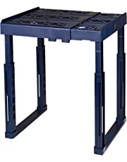 """Tools for School Locker Shelf. Adjustable Width 8"""" - 12 1/2"""" and Height 9 3/4"""" - 14"""". Stackable and Heavy Duty. Ideal for School, Work and Gym Lockers (Blue, Single)"""