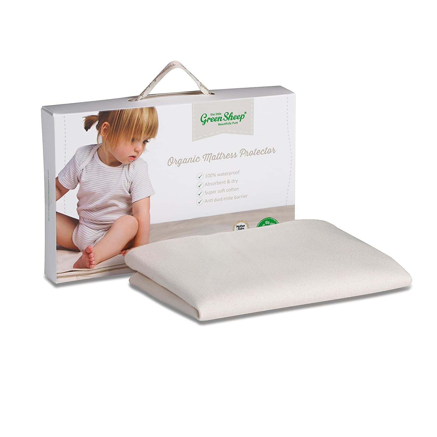 The Little Green Sheep Organic Waterproof Mattress Protector (Moses Basket Size) BabyCenter BD001A