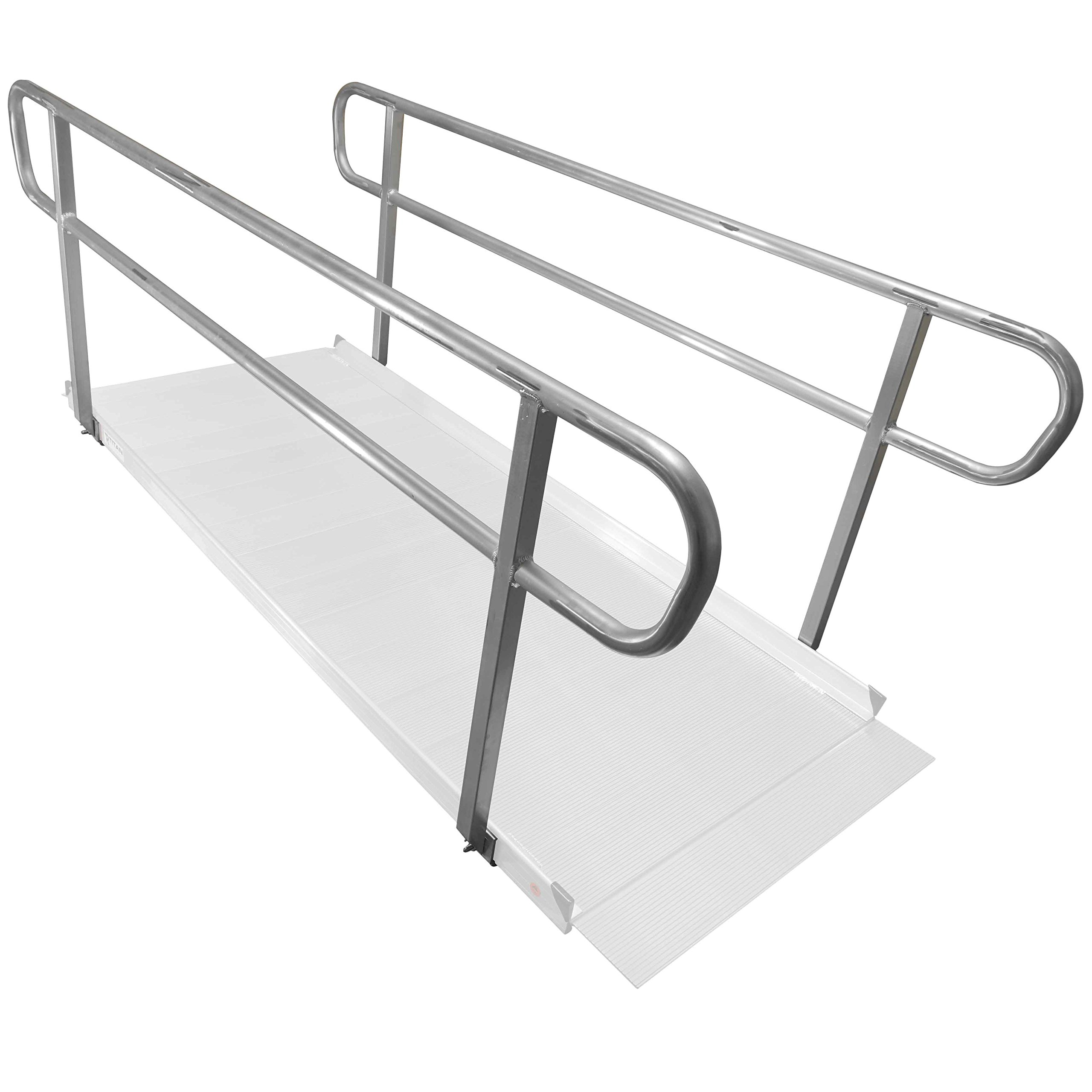 Titan 8' Wheelchair Entry Ramp Handrails Only