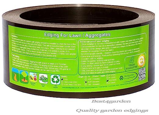 Best4garden Ribete de plástico reciclado, de larga duración ideal ...