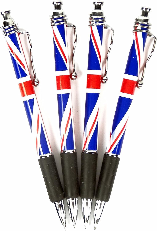 Bolígrafo roller con diseño de bandera del Reino Unido, juego de 4 ...