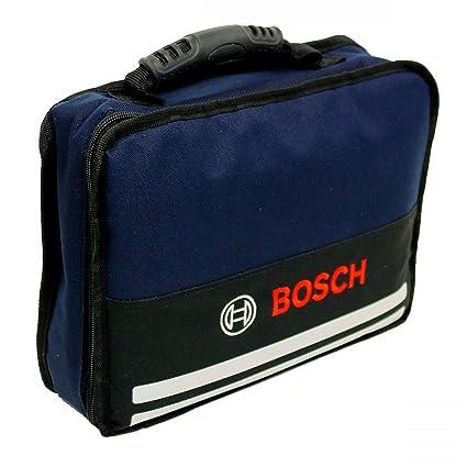 Bosch Bolsa de herramientas para atornillador GSR 10.8 y otros, tela, color azul