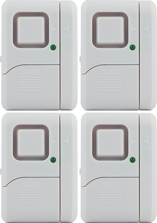 GE Personal Security Window/Door Alarm, 4-Pack